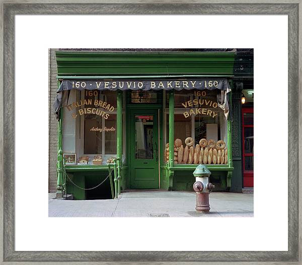 Vesuvio Bakery Framed Print by Michael Gerbino
