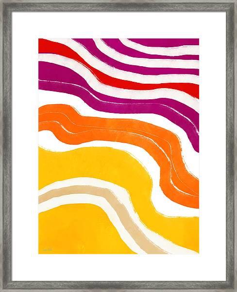 Vibrant Waves 1- Art By Linda Woods Framed Print