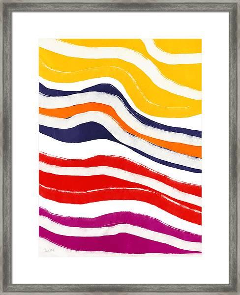 Vibrant Waves 2- Art By Linda Woods Framed Print
