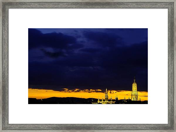 Vienna - When The Day Meets The Night Framed Print