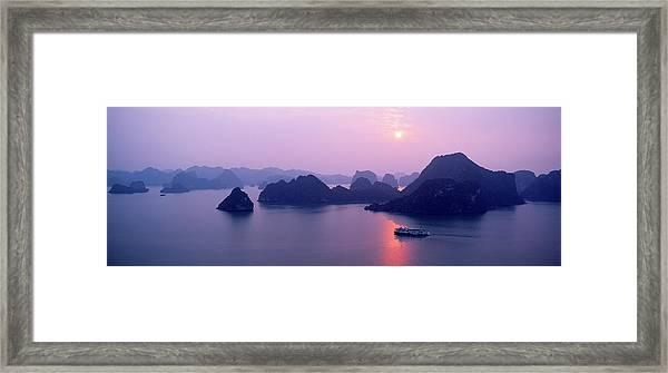 Vietnam, Gulf Of Tonkin, Halong Bay Framed Print by Andrea Pistolesi