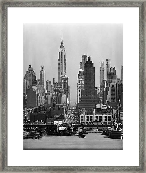 View Along 42nd Street Framed Print