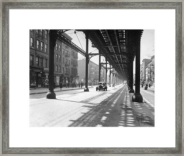 View From 38th St. And Second Ave Framed Print