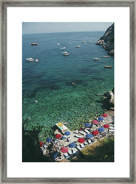 View From Il Pellicano Framed Print by Slim Aarons