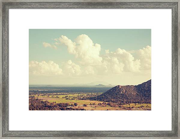 View From Mihintale Framed Print