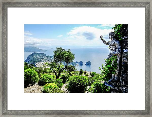 View From Monte Solaro To The Framed Print