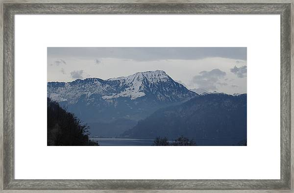 View From My Art Studio - Stanserhorn - March 2018 Framed Print