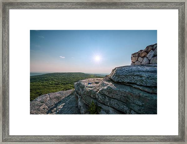 View From Sams Point Preserve In Framed Print by Boogich