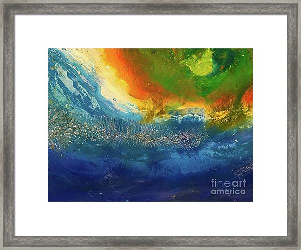 View From Space Framed Print