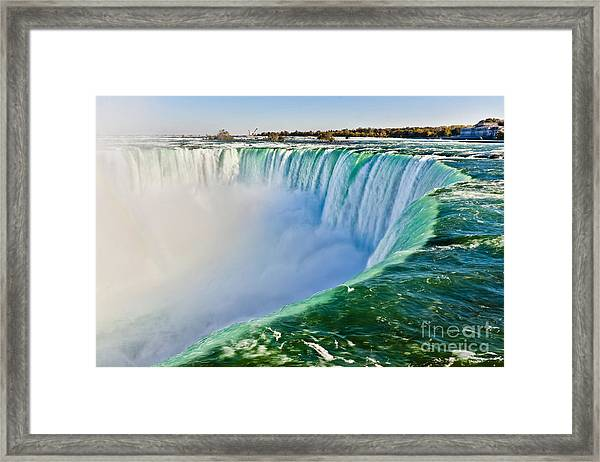 View From The Edge Of Niagara Falls Framed Print