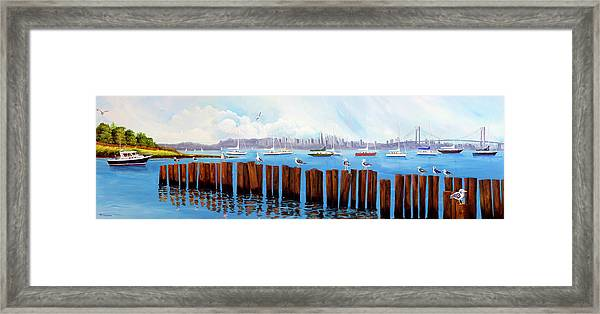 View From The Moshier's Tiki Bar Framed Print