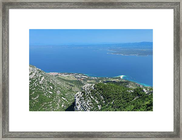 View From Vidova Gora To Bol, Zlatni Framed Print