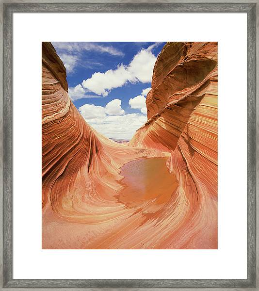 View Of A Canyon, The Wave, Navajo Framed Print
