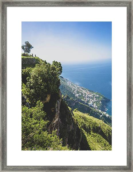 View Of Amalfi Italy From Path Of The Gods Framed Print
