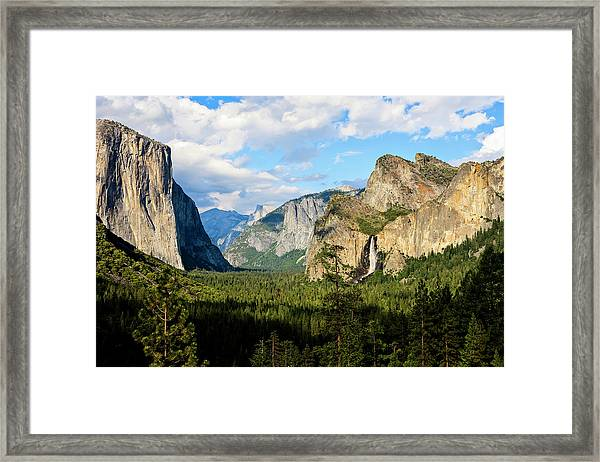 View Of Bridalveil Falls, El Capitan Framed Print by Danita Delimont