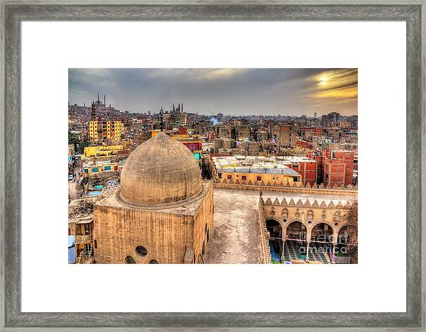 View Of Cairo From Roof Of Amir Framed Print