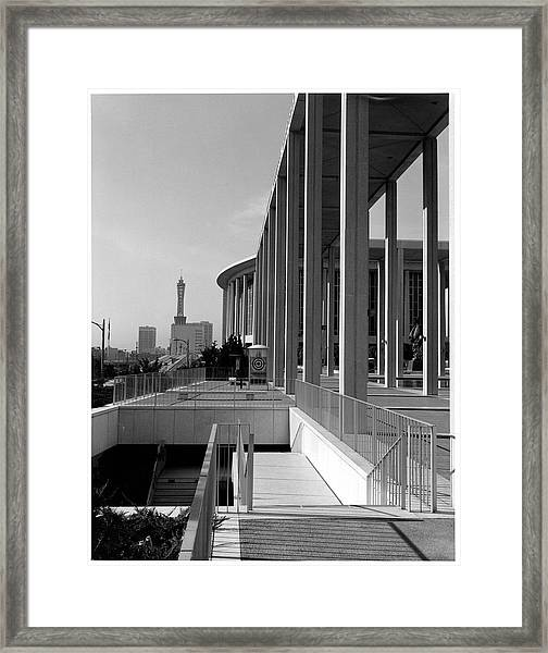 View Of Downtown Los Angeles From Music Framed Print