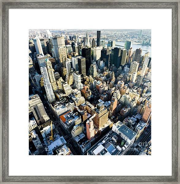 View Of Manhattan From The Empire State Framed Print