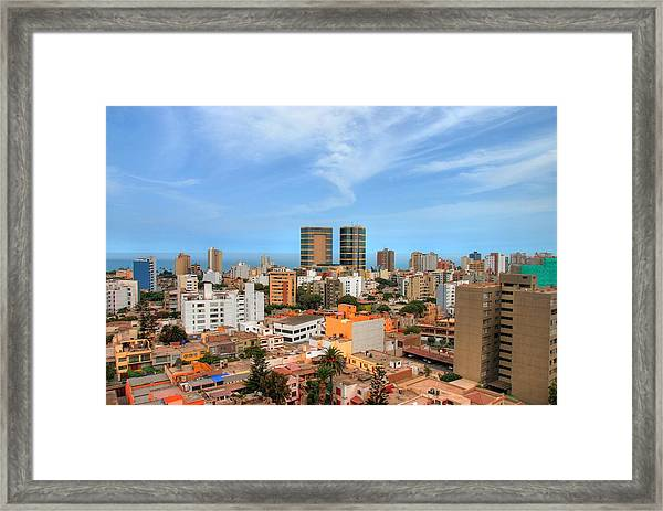 View Of Miraflores, Lima Framed Print