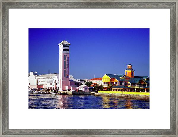 View Of New Providence Harbor And St Framed Print