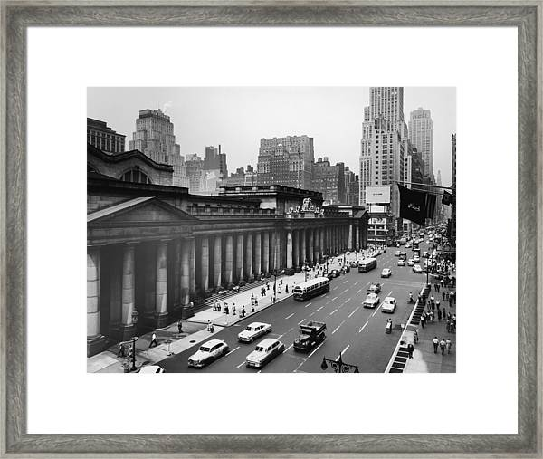 View Of Penn Station From Seventh Avenue Framed Print