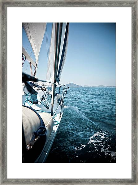 View Of Sailing Boat Framed Print