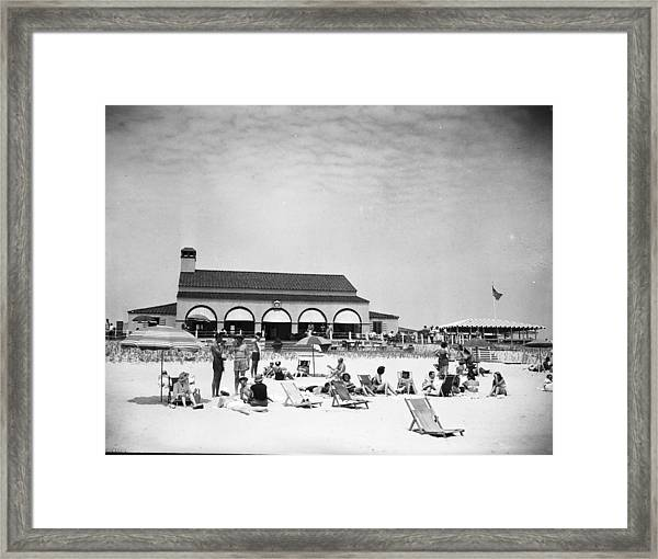 View Of Southampton Beach Club With Framed Print