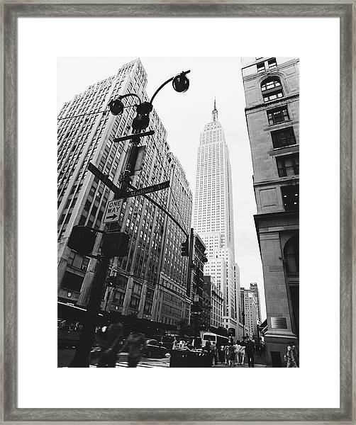 View Of The Empire State Building, New Framed Print