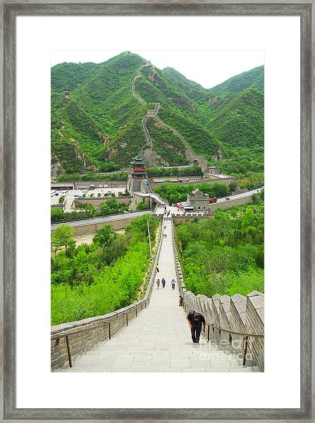 View Of The Great Wall Of China, In Framed Print