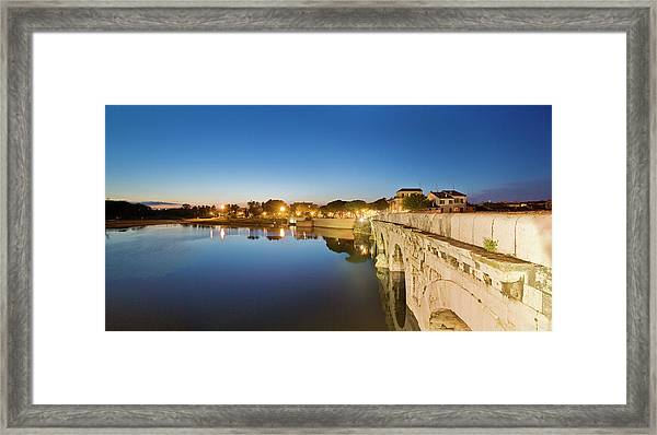View Of Tiberio Bridge Framed Print by Maremagnum