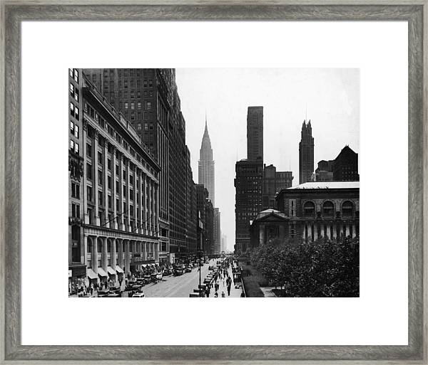 View Of West 42nd Street Framed Print