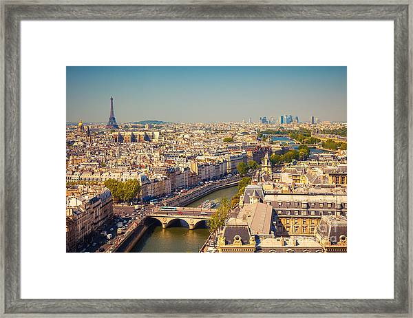 View On Paris Form Notre Dame Cathedral Framed Print