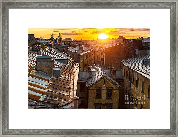 View Over The Rooftops Of The Historic Framed Print