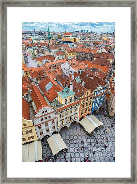 View Over The Rooftops Of The Old Town Framed Print