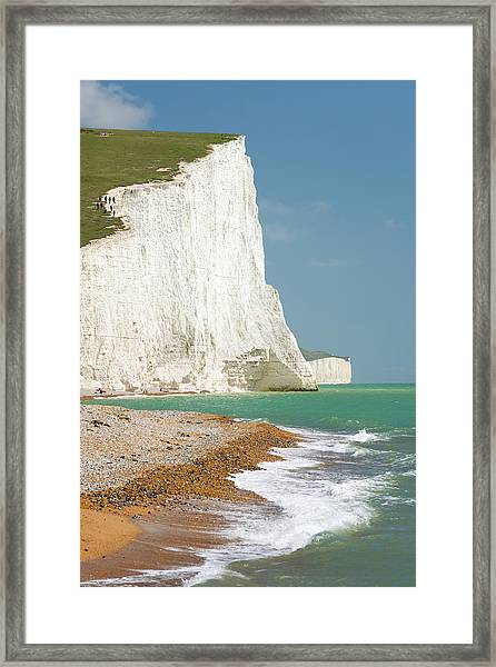 View To The Seven Sisters, East Sussex Framed Print
