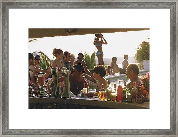 Villa Vera Framed Print by Slim Aarons
