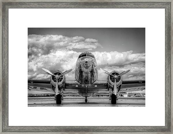 Vintage Airplane Framed Print