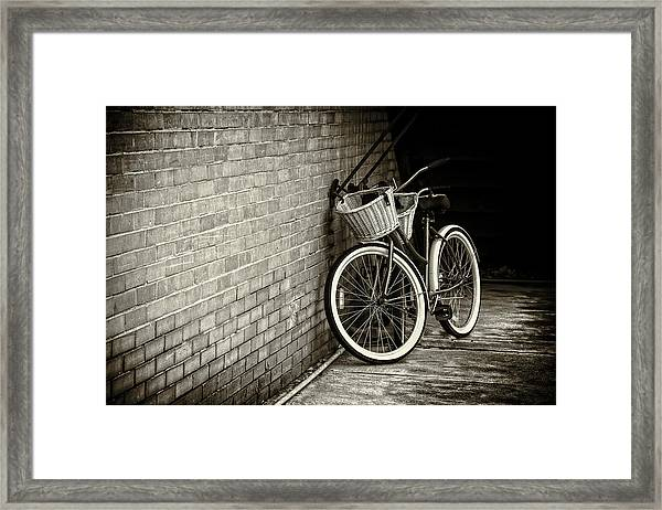 Vintage Bicycles Framed Print
