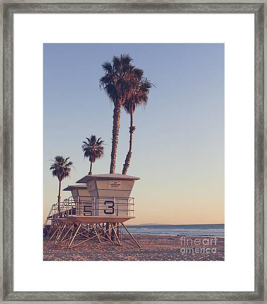 Vintage California Life Guard Station - Framed Print by Dcornelius
