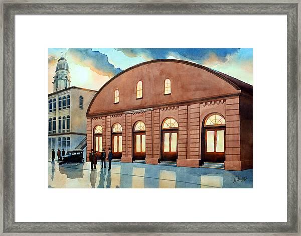 Vintage Color Columbia Market House Framed Print