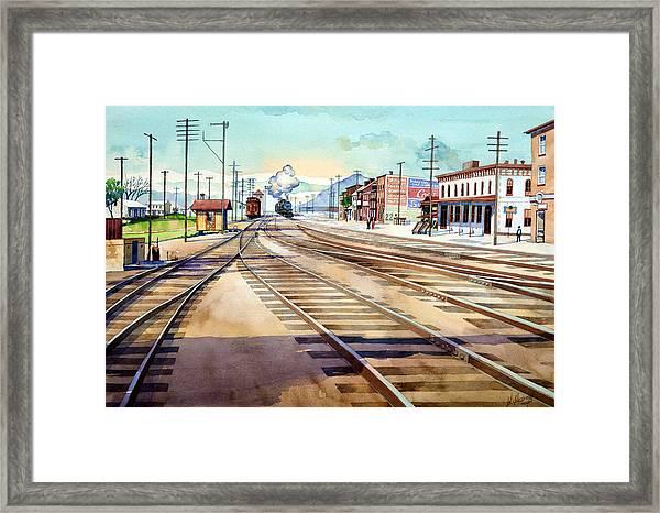 Vintage Color Columbia Rail Yards Framed Print
