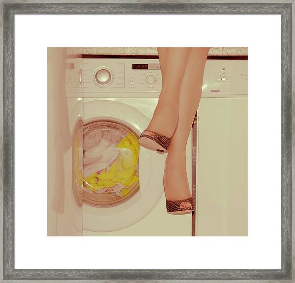 Vintage Laundry Framed Print by © Angie Ravelo Photography