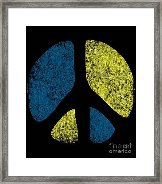 Vintage Peace Sign Framed Print