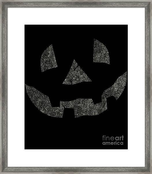 Vintage Pumpkin Face Framed Print