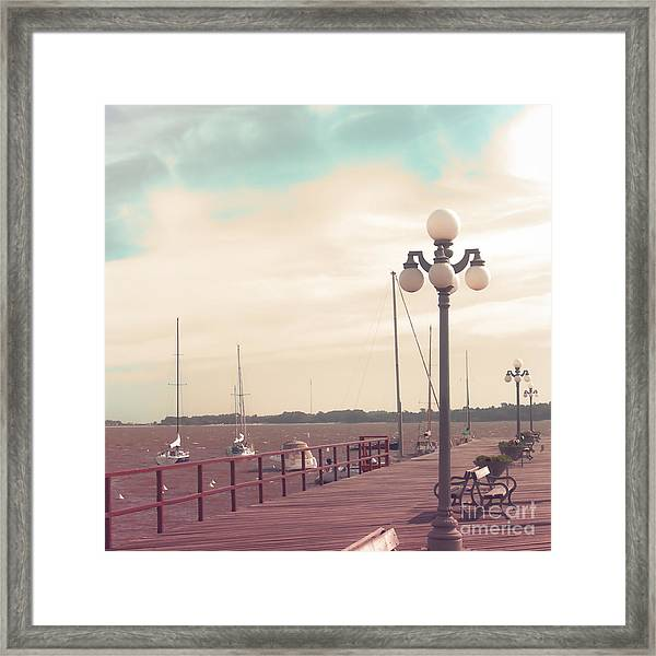 Vintage Sea Port Framed Print by Andrekart Photography