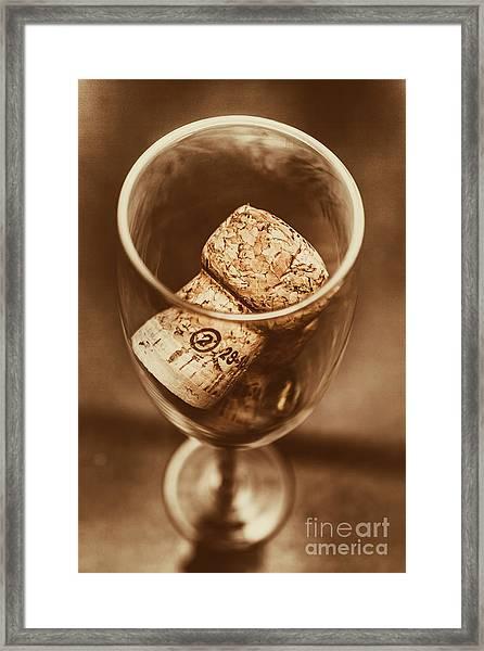 Vintage Vino Framed Print