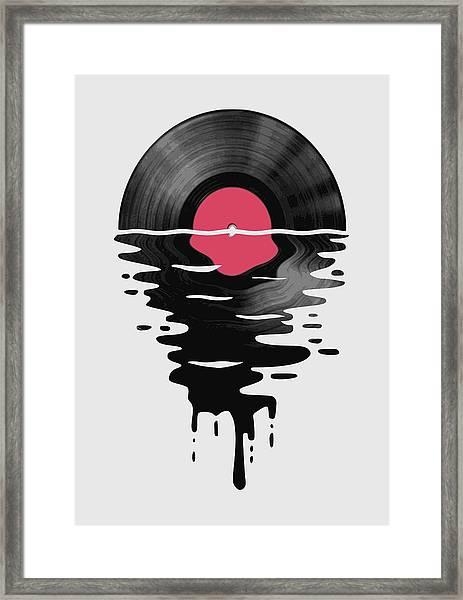 Vinyl Lp Record Sunset Framed Print