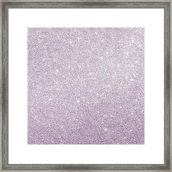 Violet Glitter Framed Print