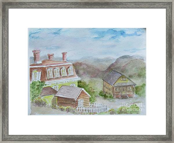 Virginia City Nevada Framed Print