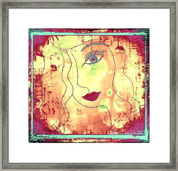 Framed Print featuring the mixed media Visage De Lumiere by Rachel Maynard